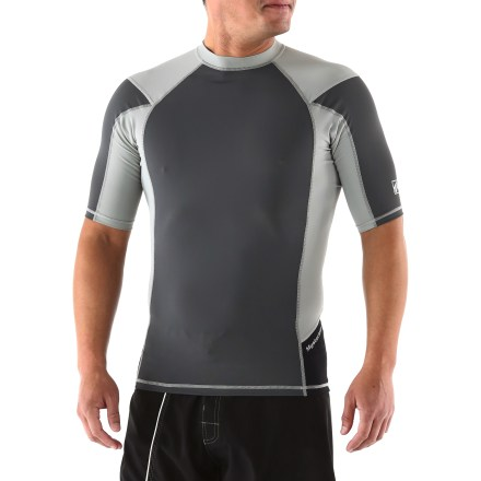 Kayak and Canoe Helping to prevent sunburns and protect skin from irritation, the Mysterioso Regular Fit rashguard offers outstanding comfort for kayaking, canoeing, stand up paddleboarding or surfing. Fabric provides UPF 50+ sun protection, shielding skin from harmful ultraviolet rays. Quick-drying fabric is comfortable and soft against your skin. Raglan sleeves and underarm panels let you move freely. Flatlock stitching prevents chafing. Slim fit. Hand wash the Mysterioso Regular Fit Rashguard in cold water and lay flat to dry. - $28.93