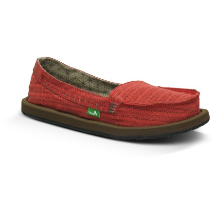 Surf The Sanuk Rasta Brisbane shoes offer a super-comfy, easygoing fit perfect for summer days around town. Billed as a sandal-shoe hybrid from the Sanuk Sidewalk Surfer line, Rasta Brisbane shoes are hemp shoe uppers on sandal bottoms. Woven hemp uppers have a soft cotton canvas lining and a well-worn look. Loose-fitting uppers allow feet to move and spread for natural shock absorption and stability. Thermoplastic urethane midsoles offer ample cushioning and a stable platform to walk on. Rubber outsoles supply traction on a variety of surfaces. - $41.93
