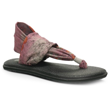 Fitness Sanuk Yoga Sling flip-flops bring a new twist to the casual flip-flop. They feature lightweight stretch sling uppers for a feminine, fun fit. - $38.00