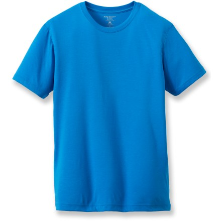 Fitness The Terramar dri-release crew T-shirt the softness of your favorite T-shirt with the moisture-wicking properties of a high-tech fabric. dri-release(R) polyester/cotton with Freshguard(R) climate control technology offers breathable comfort and moisture-wicking performance. Fabric provides UPF 25 sun protection, shielding skin from harmful ultraviolet rays. Closeout. - $11.73