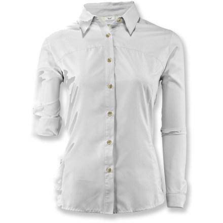 Camp and Hike Giving you sun protection and cooling comfort, the long-sleeve women's White Sierra Gobi Desert plus-size shirt is ideal for summer adventures and hiking in the sun. - $37.73