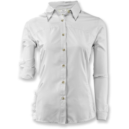 Camp and Hike Giving you sun protection and cooling comfort, the long-sleeve White Sierra Gobi Desert women's shirt is ideal for summer adventures and hiking in the sun. - $34.73