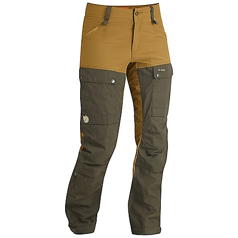 Moosejaw Staff Pick - Jess, Moosejaw Secret Headquarters Features of the Fjallraven Women's Keb Trousers Advanced High Performance trekking trouser in stretch and G-1000 Eco with zippers for ventilation G-1000 reinforcement at High wear Areas Pree shaped knees and butt, reinforcement patch at knees Pocket suitable for knee pads 2 handpockets, 2 leg pockets and 1 mesh phone pocket in pocket Rejustable strap at bottom leg with both hook Leather details - $199.95