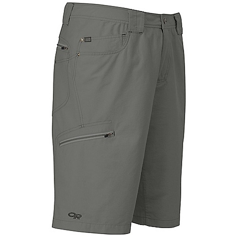 Free Shipping. Outdoor Research Men's Longshadow Short DECENT FEATURES of the Outdoor Research Men's Longshadow Short Quick Drying Breathable Durable Belt Loops Snap and Zipper Fly Front Slash Pockets Back Patch Pockets Zippered Thigh Pocket The SPECS Weight: (L): 9.0 oz / 256 g Fit: Standard Inseam: 12in. / 30 cm 68% cotton, 32% nylon This product can only be shipped within the United States. Please don't hate us. - $69.95
