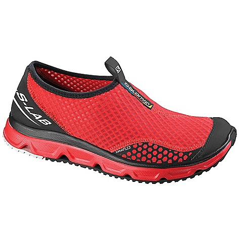 Camp and Hike Free Shipping. Salomon Unisex RX Moc Lab Shoe DECENT FEATURES of the Salomon Unisex RX Moc Lab Shoe Outsole: Non Marking Contagrip, Os Tendon Sockliner: EVA Shaped Foot bed, Leather Foot bed Midsole: Molded EVA, Os Muscle The SPECS Weight: 7 oz / 199 g Hand-Made Top Stitch Upper Elastic For Easy Entry Breathable Open Mesh Textile Cold Wash Protective Synthetic Toe Cap Lining Material: Textile - $89.95