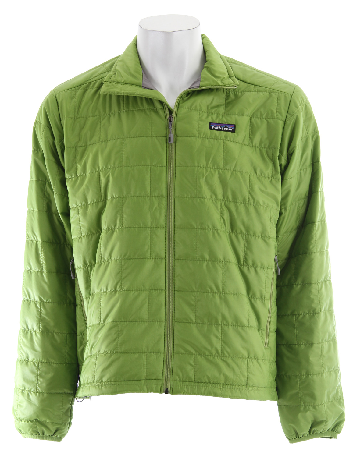 Take our classic original Nano Puff Pullover, add a full-length zipper for greater all-around ease and, presto, the versatile Nano Puff Jacket. It is windproof and weather-resistant enough to wear as an insulated shell in a gusty snowstorm, trim enough to pull on for chilly rock pitches (and still see your footholds), and warm enough for light belay parka duty on quick alpine dashes. The wind-blocking, moisture-shedding 100% recycled polyester shell also glides effortlessly, whether worn as an outer or midlayer. Low-bulk, hydrophobic, highly compressible PrimaLoft One (60-g) insulation traps heat with remarkable efficiency, even when wet. It packs down to practically nothing and stuffs into an internal zippered chest pocket that has a carabiner clip-in loop. It also has two zippered handwarmer pockets, elasticized cuffs and a dual-adjust drawcord hem to seal out wind and seal in warmth.Key Features of the Patagonia Nano Puff Jacket: Lightweight recycled polyester ripstop shell with a Deluge DWR (durable water repellent) finish Lightweight 60-g PrimaLoft One polyester insulation provides excellent warmth and compressibility Unique quilt pattern holds insulation in place, which promotes durability and longevity Pockets: Two zippered handwarmers; one internal zippered chest pocket, doubles as a stuff sack and has a carabiner clip-in loop Dual-adjust drawcord hem seals in warmth Shell: 1-oz 15-denier 100% recycled polyester. Insulation: 60-g PrimaLoft One 100% polyester. Lining: 1.4-oz 22-denier 100% recycled polyester. Shell and lining have a Deluge DWR (durable water repellent) finish 354 g (12.5 oz) Made in Vietnam. Recycled Polyester: We recycle used soda bottles, unusable second quality fabrics and worn out garments into polyester fibers to produce many of our clothes. Deluge DWR: Patagonia's proprietary durable water repellent fabric finish, Deluge DWR, lasts substantially longer than standard DWRs. Garments with the Deluge DWR finish have like-new repellency after years of extensive use. - $106.95