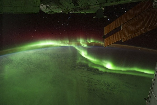 Entertainment Aurora borealis from The International Space Station