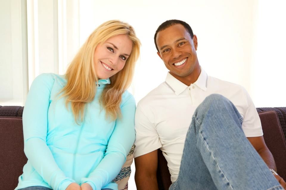 Golf Lindsey Vonn and Tiger Woods