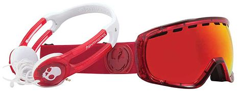 Snowboard Dragon x Skullcandy Rogue Red & Red Ion 2012 Goggles   $129.99
