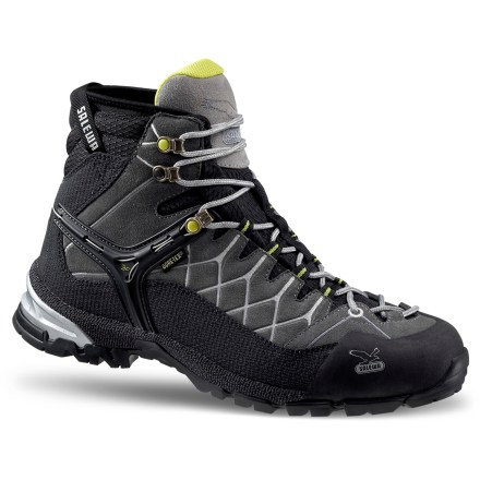 Camp and Hike A great choice for trail adventures, the Salewa Alp Trainer Mid Gore-Tex hiking shoes offer the support of hiking boots and the lightness and technical features of approach shoes. - $98.83