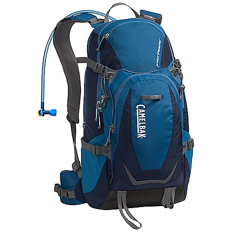Camp and Hike Free Shipping. CamelBak Fourteener 100oz Hydration Pack DECENT FEATURES of the CamelBak Fourteener 100 oz Hydration Pack Front handle drop slot N.V.I.S. Dynamic suspension with slider sternum strap harness Load-bearing waist belt Tool attachments Sunglasses pocket Hike essentials organizer pocket Side stretch pocket Quick stash overflow storage Four-point compression straps Designed to Carry: Suggested load range: 10-25 lbs. Extra layers, rain gear, food, head lamp, trail maps, ice axe, trekking poles, media, sunglasses The SPECS Total Capacity: 1404 cubic inches / 23 liter + 3 liter Reservoir Pack Only Weight: 2.36 lbs / 1.07 kg Dimension: 20.5 x 10.5 x 10.5in. / 52 x 27 x 27 cm Hydration Capacity: 100 oz / 3 liter Frame Size: 19 in / 48 cm Fabric: 100D Rain Dobby, 230D Taffeta and 420 Nylon with DWR + 1000 mm PU - $138.95