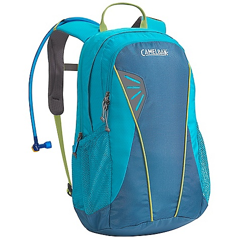 Camp and Hike Free Shipping. CamelBak Women's Day Star 70 oz Hydration Pack DECENT FEATURES of the CamelBak Women's Day Star 70 oz Pack Designed for women Front handle drop slot Air director back panel Diamond mesh with slider sternum strap harness Hike essentials organizer pocket Side pocket Designed to Carry: Extra layers, food, trail maps, compass The SPECS Total Capacity: 1098 cubic inches / 18 liter + 2 liter Reservoir Pack Only Weight: 1.36 lbs / .62 kg Dimension: 19.5 x 10.5 x 9in. / 49 x 26 x 23 cm Hydration Capacity: 70 oz / 2 liter Frame Size: 17 in / 43 cm Fabric: 100D Double Diamond and 420 Nylon with DWR + 1000 mm PU - $78.95