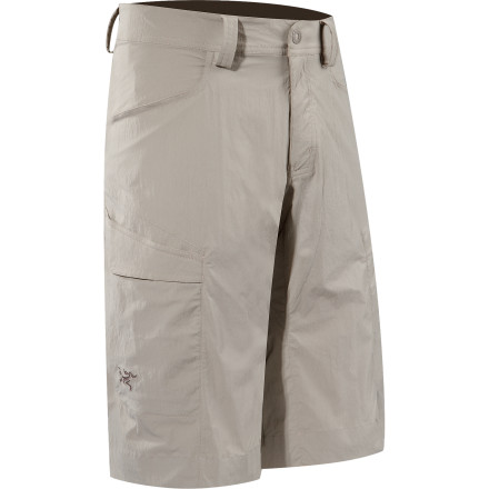 Camp and Hike Arc'teryx made the Men's Rampart Long Shorts for climbers and hikers who demand total range of motion. A gusseted crotch and stretchy fabric ensure nothing gets in your way when you're trying to send a hard crack pitch or finishing a 20-plus-mile hike. The Arc'teryx Rampart Long Shorts' contrast stitching and medium cut keep you from looking out of place when you wear them straight from the crag to the bar for celebration drinks. - $88.95