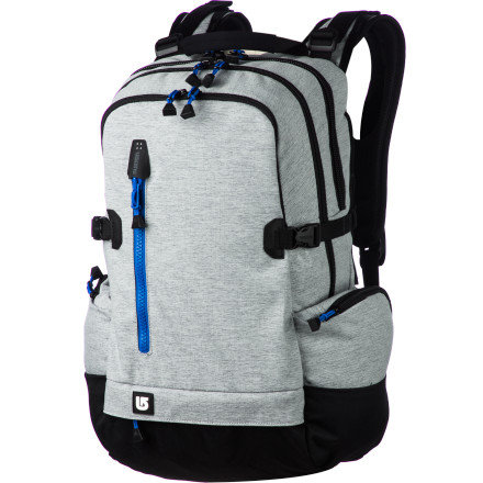 Camp and Hike With protective storage for your laptop, tablet, headphones, chargers, and all your other gadgets, the Burton Bruce Laptop Backpack is the everyday bag of choice for terminal technophiles. - $94.95