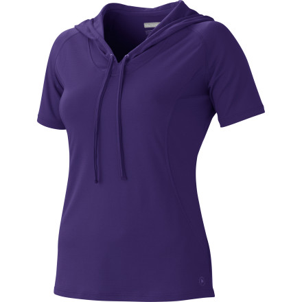 There is no fashion law that states only a long-sleeve shirt, jacket, or sweatshirt can have a hood. Even if there were such a rule, Marmot would gladly break it and still offer you the Women's Bow Hooded Shirt. This soft short-sleeve shirt has the cool feel of a tee with the ready-for-anything desire of a hoody. And it wouldn't be a Marmot if it didn't have flatlock seams and added side panels for mobility and comfort no matter what you decide to do. - $44.95