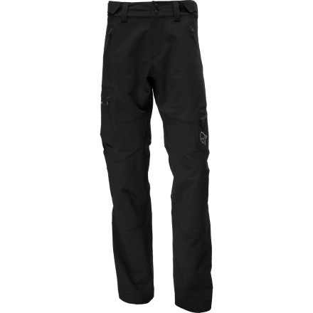 Camp and Hike Pack the Norrna Men's Svalbard Flex1 Softshell Pants when you're gearing up for intense physical activity in cool to cold weather. This wind-and-water-resistant breathable hiking pant lightens your load and protects you from shoulder-season chills. Stretchy Flex1 material and a hiking-inspired cut boost mobility so you can hike, climb, or even ski through the backcountry. - $131.18