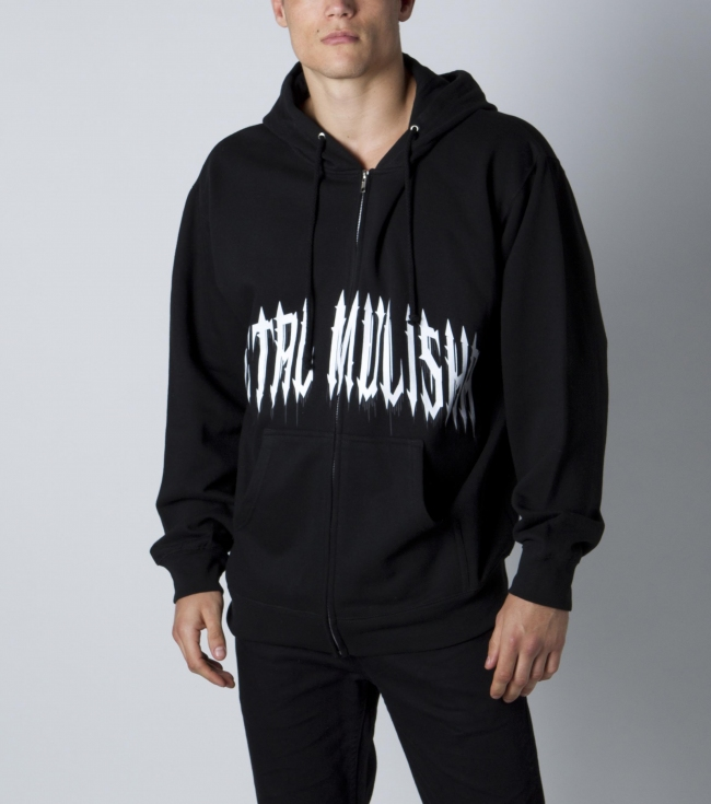 Motorsports Metal Mulisha mens zip front fleece with front and back logo screen art. - $35.99