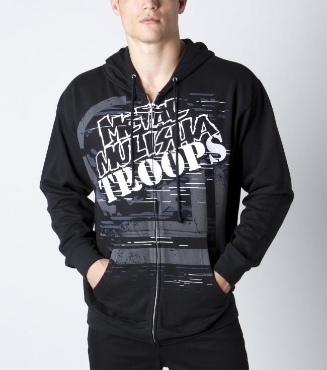 Motorsports Metal Mulisha Mens zip hoodie.  80% cotton 20% poly fleece zip front hoodie with front chest screen. - $30.99
