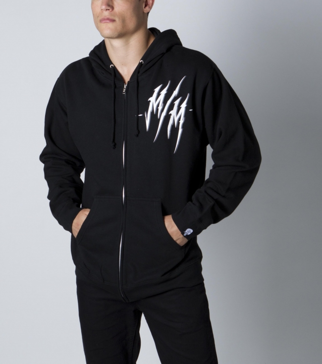 Motorsports Metal Mulisha mens zip front hoodie with front and back logo screen art. - $30.99