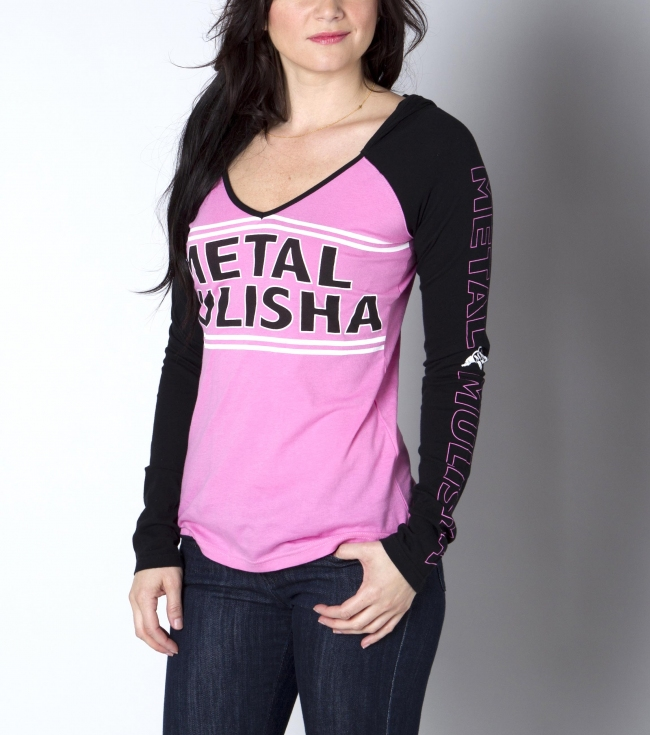 Motorsports Metal Mulisha Maidens 100% cotton raglan v-neck pull over. - $21.99