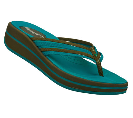 Surf Sporty style meets blissful comfort in the SKECHERS Relaxed Fit: Upgrades - Caption sandal.  Soft fabric upper in a strappy casual thong sandal with comfort cushioned footbed. - $45.00