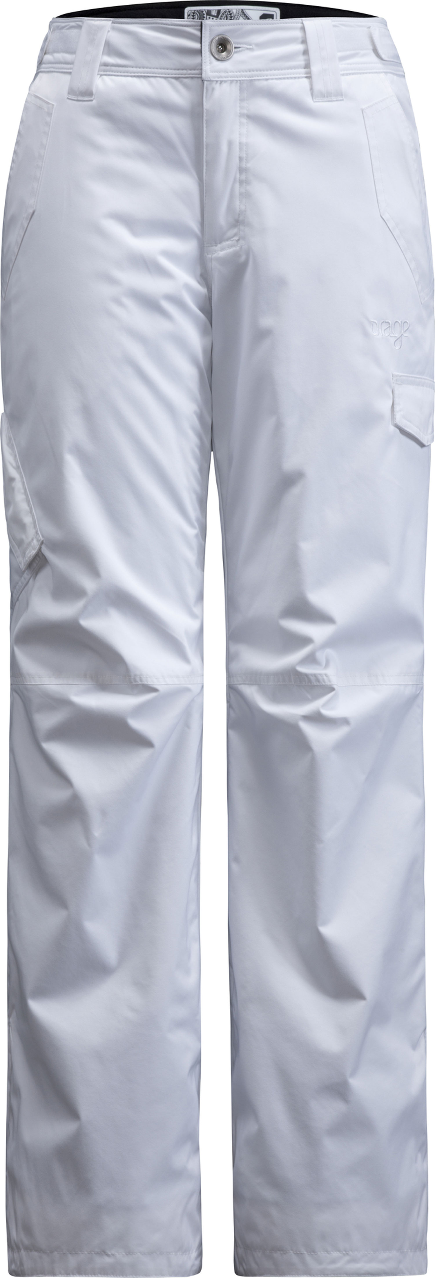 Ski Key Features of the Orage Bell Ski Pants: Prime 10: Nylon twill 2 ply 100% Nylon, ECO DWR 80/10, 160g/m2 Strategically seam sealed Adjustable waist band Lower leg reinforcement Snow gaiters with elastic grip - $119.95