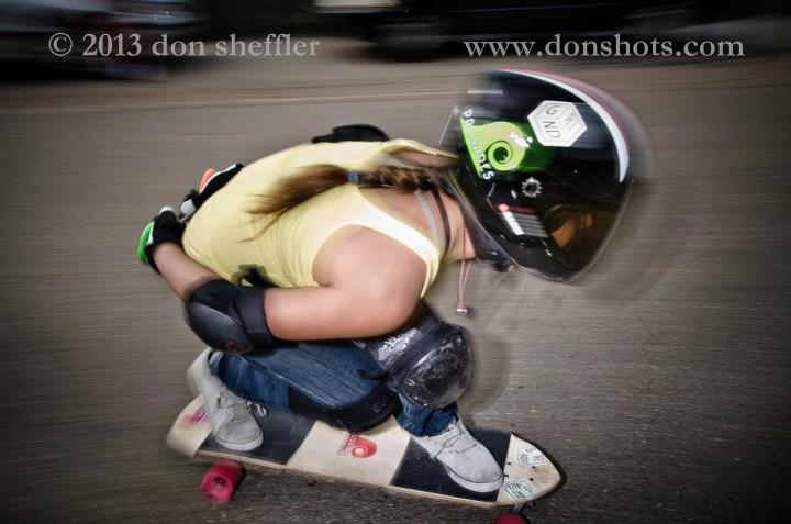 Skateboard You can feel the speed in this one!  Rider: Francesca Rosario. Great pic by Don Sheffler www.donshots.com