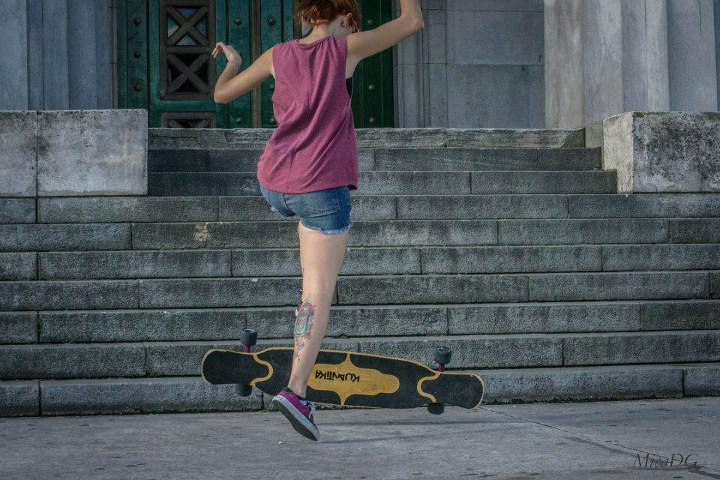 Skateboard Longboard Girls Crew Argentina's Poli Wiaggio ripping in Buenos Aires! Have a great weekend everyone!   Pic Micaela Dominguez Greco