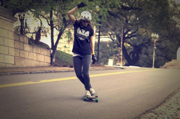 Skateboard Always protect your head! Valeria Kechichian rocking an S-One Helmet Co.    Pic: Luis Usandizaga