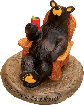 For those unbearable days when you need to crack open a cold one, this fella will gladly join you. Part of the Bearfoots collection by Jeff Fleming. Made of durable hand-cast resin. Dimensions:3.25H x 3.25W. Type: Bear Foot Sculptures. - $12.88
