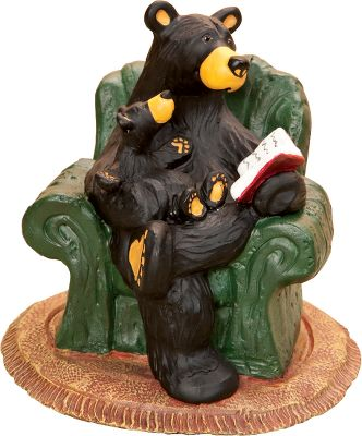 Theres nothing like curling up with your cub and a book for an evening of tall tales. Part of the Bearfoots collection by Jeff Fleming. Made of durable hand-cast resin. Dimensions: 4.25H x 4.5W. - $23.99