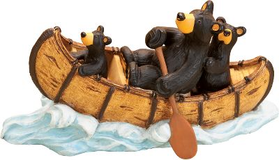 Kayak and Canoe Canoeing never looked so cute with Papa Bear and his two cubs. Part of the Bearfoots collection by Jeff Fleming. Made of durable hand-cast resin. Dimensions: 3.75H x 6.75W. - $34.99