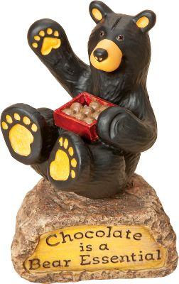 Hunting Sweet and adorable, this figurine reminds you how sweet life can be. Part of the Bearfoots collection by Jeff Fleming. Made of durable hand-cast resin. Dimensions: 4.5H x 2.75W. - $13.88