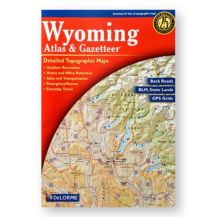 Camp and Hike Topographic maps for the entire state of Wyoming in book form, with unequaled backroad detail, including Yellowstone National Park Map & Gazetteer. - $19.95