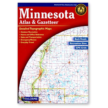 Camp and Hike Detailed maps of the entire state of Minnesota include back roads, backwater lakes and streams and campgrounds - $19.95