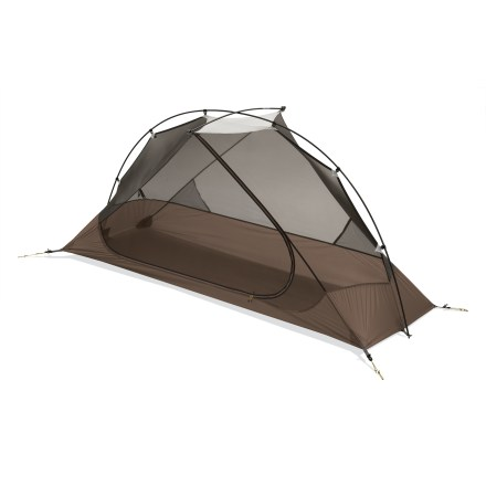 Camp and Hike The Carbon Reflex 1 tent is the lightest, double-wall solo tent from MSR. It crosses the barrier from ultralight to hyperlight, and is ideal for any 3-season adventure youre ready to take on. - $299.93