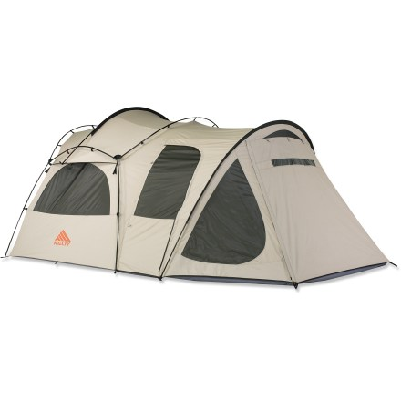 Camp and Hike If you're a family of 4 looking for a tent that you can really hang out in, the Kelty Frontier 4 is for you. Take a close look, this canvas home away from home is not your father's old canvas tent. - $659.93