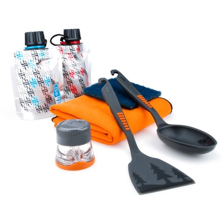 Camp and Hike The GSI Pack Kitchen 8 set has just what you need for a backcountry kitchen. - $14.95