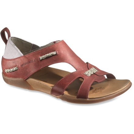 Surf With an earthy design, these savvy Merrell Flaxen sandals give you the opportunity to go straight from your office to exploration off the beaten path. - $22.83