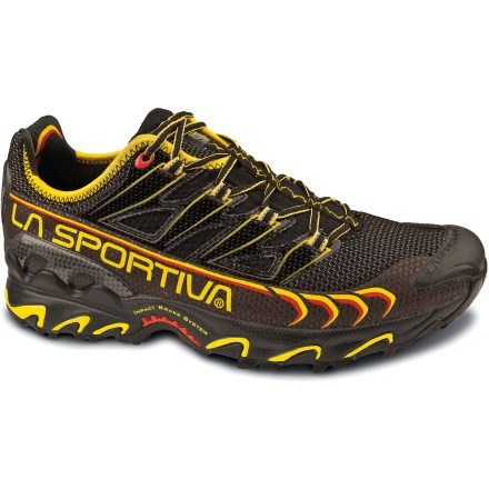 Fitness The La Sportiva Ultra Raptor trail-running shoes offer a light and stable ride for neutral-gait runners pursuing fast-paced trail adventures. - $130.00