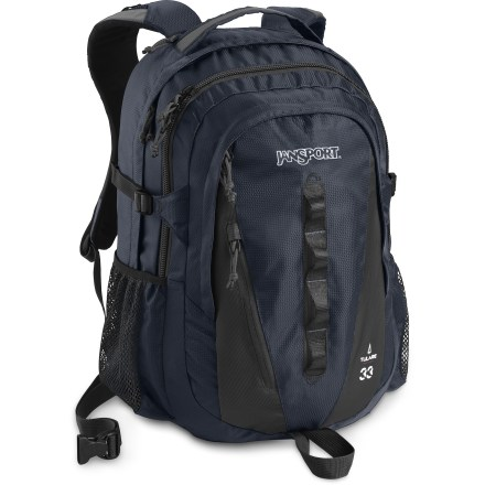 Entertainment The Jansport Tulare is a go-to daypack for whatever you have in mind. A versatile padded sleeve fits a 15 in. laptop or a 3-liter hydration system so you can hit the classroom or hit the trail. - $59.93