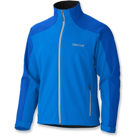 Tough, weather-protective and totally comfortable, the Marmot Sharp Point jacket keeps outdoor enthusiasts warm and comfortable during high-energy, athletic pursuits in cold weather. WINDSTOPPER(R) fabric offers warmth and total windproof protection; you won't overheat or suffer from perspiration buildup because moisture vapor escapes easily. When you're active and on the move, the Sharp Point jacket's stretch is a welcome virtue. Pit zips allow ventilation control ; reinforced shoulders and elbows stand up to abrasion. Elastic drawcord hem exits into hand pockets; cuffs adjust with rip-and-stick tabs. Zippered handwarmer pockets offer a warm refuge to cold fingers; zippered interior pocket holds small essentials. Angel-Wing Movement(TM) sleeves allow full range of arm motion and prevent the jacket from rising up when arms are raised. Closeout. - $89.73