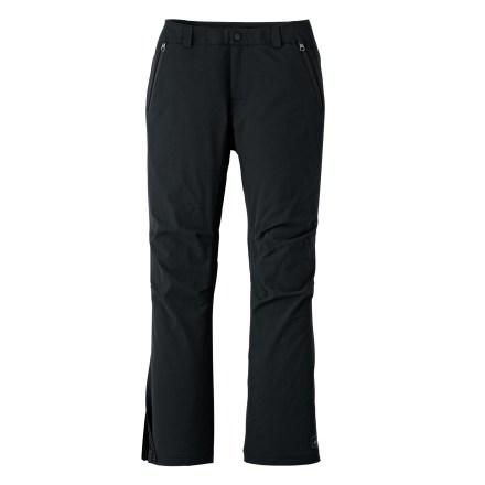 Camp and Hike The REI Mistral women's petite pants are sleek and multipurpose soft shells. Have them on hand for late-autumn hikes when the days turn cool and wet. - $48.83