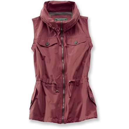 The Woolrich Trekker vest will keep you happy with its multiple-pocket design and sporty, casual style. Soft, comfortable cotton is blended with durable, shrink-resistant, shape-retaining polyester. Vest has a zippered front and features 3 drawcords for a customized fit: at hem, waist and neck. 4 pockets with button closures. Closeout. - $54.73