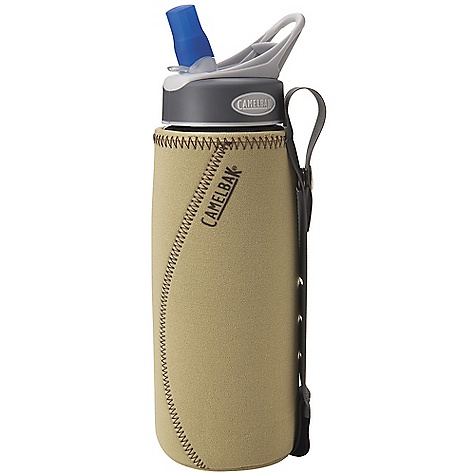 Fitness CamelBak Insulated Bottle Sleeve DECENT FEATURES of the CamelBak Insulated Bottle Sleeve Insulation keeps liquids cool or warm and reduces bottle condensation Eco-friendly material provides excellent insulation Side grip strap makes bottle easier to hold and carry-or strap to bag Fits Better Bottle .75L and eddy .75L - $11.95