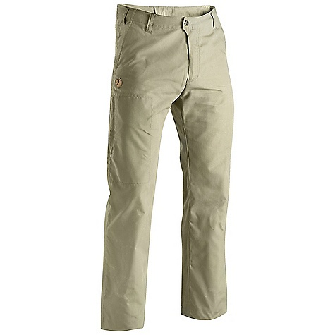 Free Shipping. Fjallraven Men's Sten Trousers DECENT FEATURES of the Fjallraven Men's Sten Trousers Everyday trouser in G-1000 Lite Low waist and regular fit 2 hand pockets, 1 leg pocket with a hidden zip and 2 back pockets with flap Leather Logo The SPECS Weight: 363 g Fit: Regular Waist: Low Waist G-1000 Silent: 65% polyester, 35% cotton, brushed Leg Ending: Raw Length Leg Type: Full Leg - $99.95