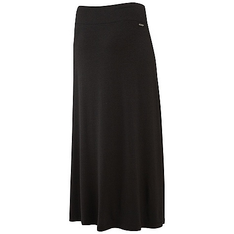 "Merrell Women's Artemisia Skirt DECENT FEATURES of the Merrell Women's Artemisia Skirt 100% Polyester/Rayon/Spandex Blend Floor length Wide waistband rides comfortably where you like it and stays there 38.5"" Outseam - $44.95"