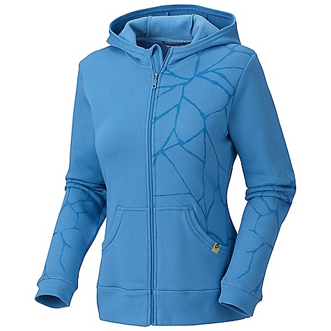 Free Shipping. Mountain Hardwear Women's Rocquetta Full-Zip Hoody DECENT FEATURES of the Mountain Hardwear Women's Rocquetta Full-Zip Hoody Updated: print Low profile hood for close-fitting head and neck coverage Full front zipper with chin guard for comfort Thumb loops keep hands warm Flat-lock seam construction eliminates chafe Detailed with water-based placement print The SPECS Apparel Fit: Semi-Fitted Average Weight: 16 oz / 452 g Center Back Length: 24.5in. / 62 cm Body: Cipher Fleece (80% cotton, 20% polyester) - $84.95