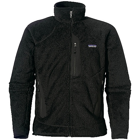 Fitness On Sale. Free Shipping. Patagonia Men's R2 Jacket (Fall 2009) FEATURES of the Men's R2 Jacket by Patagonia Highly technical R2 fabric is light, stretchy and compressible, with great breathability Insulating long fibers alternate with dense, supportive short fibers to optimize insulation and reduce bulk Directional knit wicks moisture and speeds dry time Inner collar lined with R1 fabric (made with recycled polyester) for next-to-skin comfort; collar and protective chin flap lined with R1 fabric (made with recycled polyester) for next-to-skin comfort Low-bulk R1 fabric cuffs Pockets: one chest and zippered handwarmers; zippers all welded and reinforced with Supplex for snag-free operation Shoulder seams set forward for pack-wearing comfort Slim fit SPECIFICATIONS: Weight: (14.8 oz) 420 g Fabric: Body: R2: 7.4-oz Polartec Thermal Pro 100% polyester (40% recycled) fleece. R1 panels: 6.5-oz Polartec Power Dry 93% polyester (60% recycled)/7% spandex. Recyclable through the Common Threads Recycling Program This product can only be shipped within the United States. Please don't hate us. - $139.99