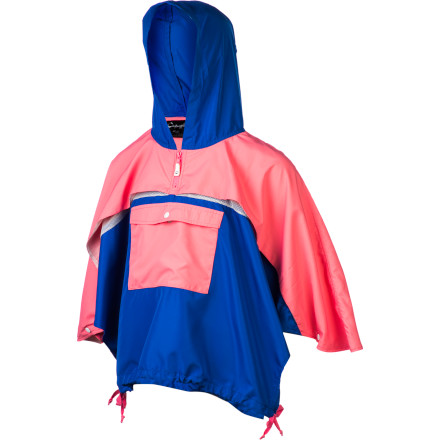 Keep her warm and comfy in the breezy spring weather with the A For Apple Jave Girls' Cape. The polyester fabric protects against wind and light moisture to help her stay comfy in mild weather, and the poncho-style coverage won't restrict so she can still skip and dance freely across the playground. - $54.95